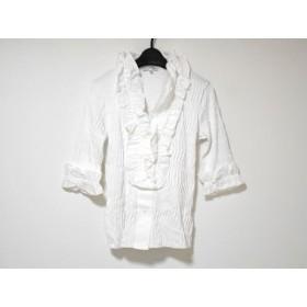 【中古】 ナラカミーチェ NARACAMICIE 七分袖シャツブラウス サイズ2 M レディース 美品 白