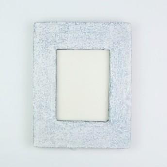 陶器の額縁 ハンドメイド オリジナルフレーム 一点物 箔張り(銀)