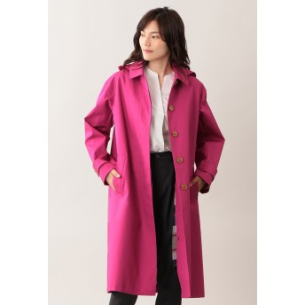 MACKINTOSH PHILOSOPHY 【はっ水】コットンボンディングコート ステンカラーコート,ピンク