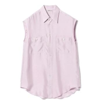 AURALEE / シルクツイル スリーブシャツ レディース カジュアルシャツ PINK 1