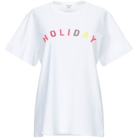 《期間限定セール開催中!》HOLIDAY レディース T シャツ ホワイト S コットン 100%