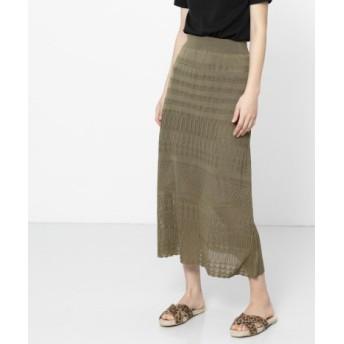 SENSE OF PLACE(センスオブプレイス) スカート スカート レースニットロングスカート