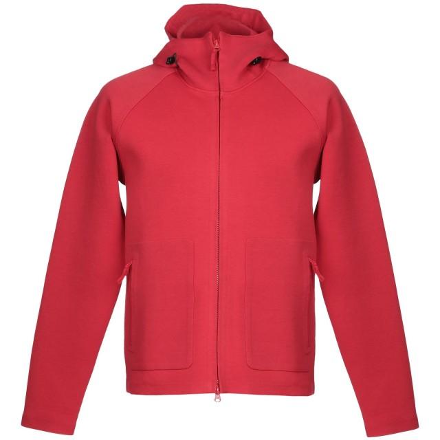 《セール開催中》ASPESI メンズ スウェットシャツ レッド M コットン 58% / ポリエステル 36% / ポリウレタン 6%