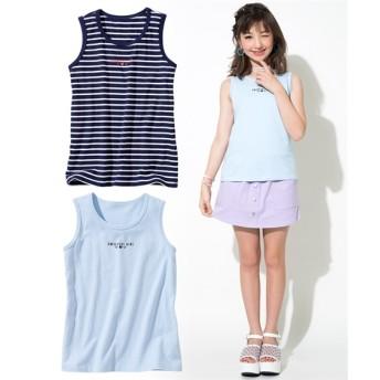 綿100%タンクトップ2枚組(女の子 子供服 ジュニア服) タンクトップ・キャミソール