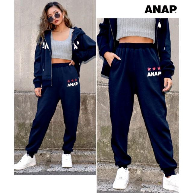 【セール開催中】ANAP(アナップ)ANAPロゴ裏起毛パンツ【別売りSETUP】