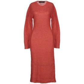 《期間限定 セール開催中》DEPARTMENT 5 レディース 7分丈ワンピース・ドレス 赤茶色 M モヘヤ 67% / ナイロン 28% / ウール 5%