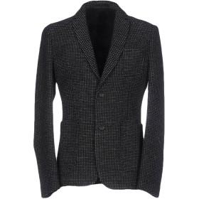 《期間限定セール開催中!》PAOLO PECORA メンズ テーラードジャケット ブラック 48 74% バージンウール 26% コットン