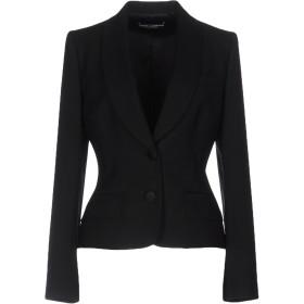 《セール開催中》DOLCE & GABBANA レディース テーラードジャケット ブラック 42 バージンウール 98% / ポリウレタン 2%