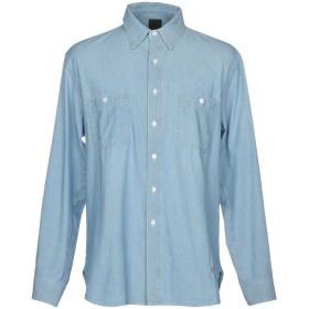 《期間限定 セール開催中》(+) PEOPLE メンズ デニムシャツ ブルー 50 コットン 100%