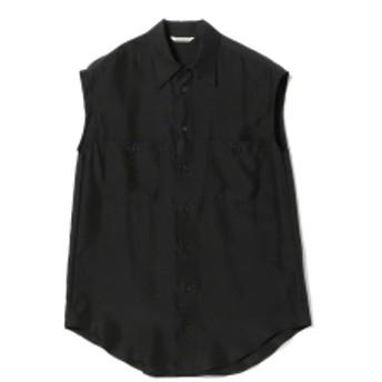 AURALEE / シルクツイル スリーブシャツ レディース カジュアルシャツ BLACK 1