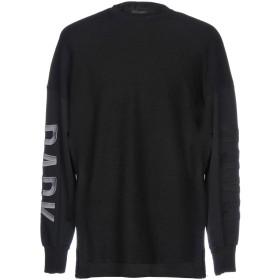 《期間限定 セール開催中》DARK LABEL メンズ スウェットシャツ ブラック L 指定外繊維(紙) 97% / ポリウレタン 3%