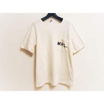 【中古】 マーガレットハウエル MHL. 半袖Tシャツ サイズM メンズ アイボリー 黒