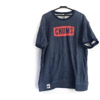 【中古】 チャムス CHUMS 半袖Tシャツ サイズXL メンズ 美品 ネイビー レッド