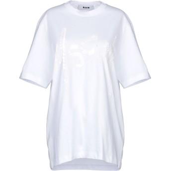 《セール開催中》MSGM レディース T シャツ ホワイト S コットン 100%