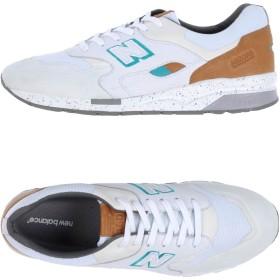 《期間限定セール開催中!》NEW BALANCE メンズ スニーカー&テニスシューズ(ローカット) ホワイト 7.5 紡績繊維 / ゴム