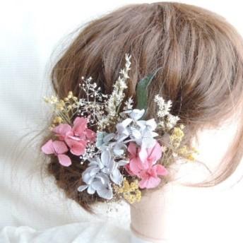 卒業式 成人式 髪飾り ドライフラワー プリザーブドフラワー