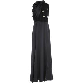 《送料無料》ANNARITA N レディース ロングワンピース&ドレス ブラック 38 ポリエステル 100% / ポリウレタン