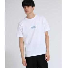 tk.TAKEO KIKUCHI / ティーケー タケオキクチ SUNSET刺繍デザインTシャツ