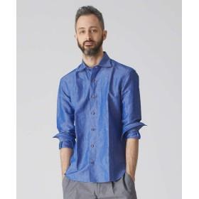 【20%OFF】 アバハウス フレンチリネンシャツ メンズ ブルー 48 【ABAHOUSE】 【セール開催中】