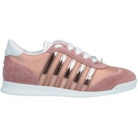 《送料無料》DSQUARED2 レディース スニーカー&テニスシューズ(ローカット) ピンク 35 革 / 紡績繊維