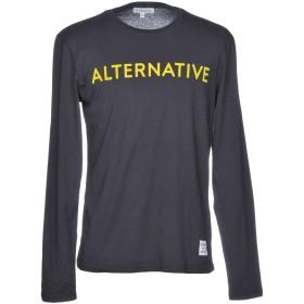 《期間限定 セール開催中》ALTERNATIVE メンズ T シャツ ブラック S コットン 100%