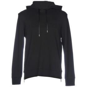 《期間限定セール開催中!》NEIL BARRETT メンズ スウェットシャツ ブラック S コットン 100%