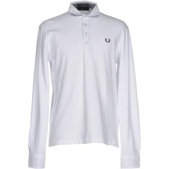 《9/20まで! 限定セール開催中》FRED PERRY メンズ ポロシャツ ホワイト M コットン 95% / ポリウレタン 5%