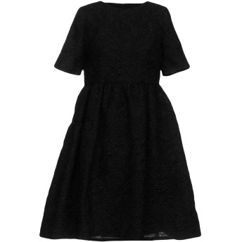 《セール開催中》ALESSANDRO DELL'ACQUA レディース ミニワンピース&ドレス ブラック 38 ナイロン 50% / ポリエステル 36% / 金属化ポリエステル 14%