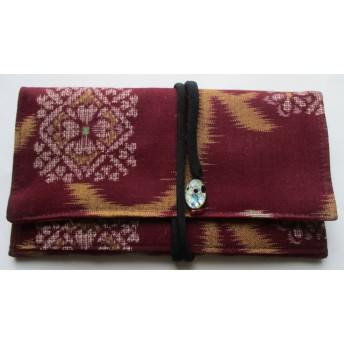 送料無料 綿の着物で作った和風財布・ポーチ 4166
