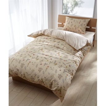 ナチュラルハーブプリント布団カバー3点セット 布団カバーセット, Bedding Duvet Covers(ニッセン、nissen)