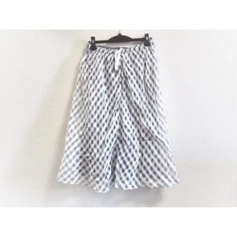 【中古】 ジユウク 自由区/jiyuku スカート サイズ38 M レディース 白 グレー チェック柄