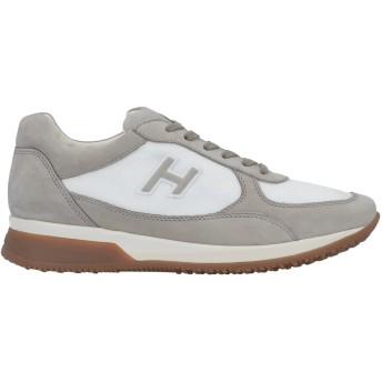 《期間限定セール開催中!》HOGAN メンズ スニーカー&テニスシューズ(ローカット) グレー 5.5 革 / 紡績繊維