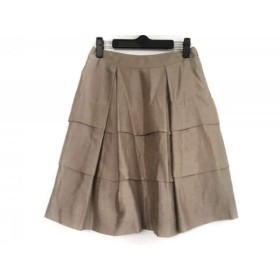 【中古】 エムズグレイシー M'S GRACY スカート サイズ36 S レディース ベージュ