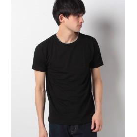 イッカ クルーネックフェイクTシャツ メンズ ブラック M 【ikka】