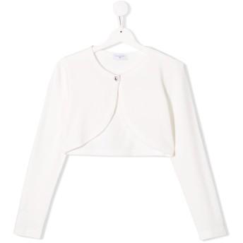 Monnalisa シングルボタン カーディガン - ホワイト