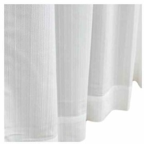 省エネ 防炎レースカーテン マスト アイボリー(クリーム, 150×223cm)