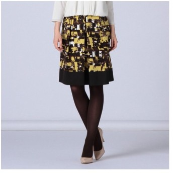 TRANS WORK / トランスワーク カラーブロックプリントスカート
