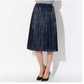 TRANS WORK / トランスワーク 【ウォッシャブル】プラチナサテンプリーツスカート