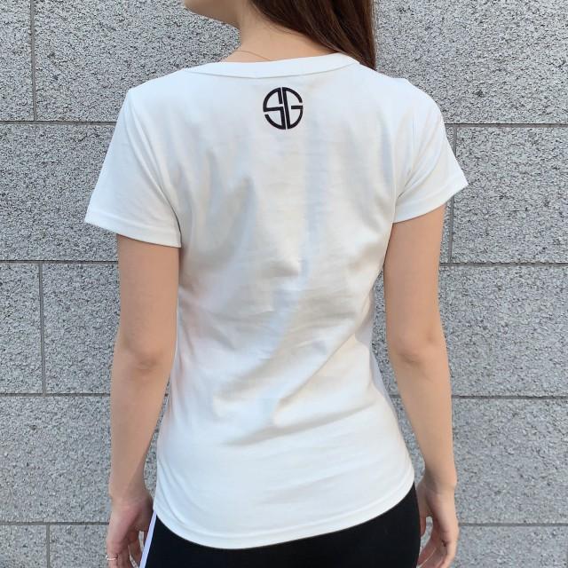 Tシャツ - VANITY FACE SGロゴマーク半袖Tシャツ 【VANITYFACE】 レディース トップス Tシャツ 半袖 ロゴ 英文字 バックロゴ
