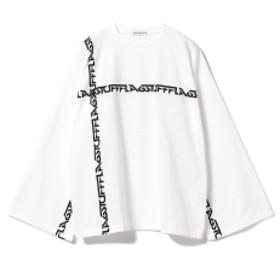 BEAMS T F-LAGSTUF-F / Big Line Long Sleeve Tee メンズ Tシャツ WHITE S