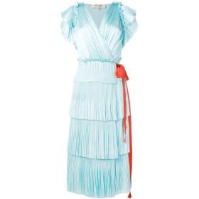 Dvf Diane Von Furstenberg Sasha ラッフル ラップドレス - ブルー