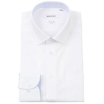【THE SUIT COMPANY:トップス】【NON IRON STRETCH】ワイドカラードレスシャツ シャドーストライプ 〔EC・FIT〕