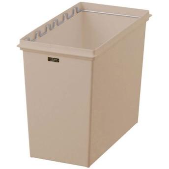 カスタムペール(蓋とサイズを選べるゴミ箱) - セシール ■カラー:ライトブラウン ■サイズ:U(フラップワイド蓋/45L)