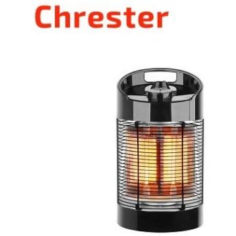 クレスター 赤外線ヒーター 最大600W 小型 サラマンダー 足元専用ヒーター IP44 IP44防水 100V 電気ストーブ HEAT-H-061B ブラック Chrester