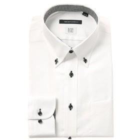 【THE SUIT COMPANY:トップス】【COOL MAX】ボタンダウンカラードレスシャツ 織柄 〔EC・BASIC〕