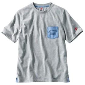 ヘインズ(Hanes) 半袖ポケット付デザインTシャツ Tシャツ・カットソー