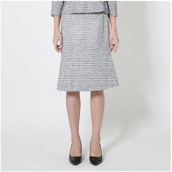 TRANS WORK / トランスワーク ツイードストレッチスカート(07番色 白×黒)
