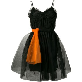 MSGM ラッフルトリム ドレス - ブラック