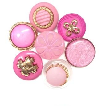 春色ピンクアソート*さくら色*アンティークボタン