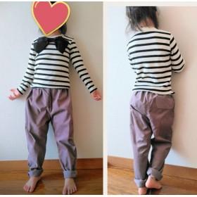 4色から選べる コーデュロイ ちょっとサルエルなパンツ 飾りポケット付き 長ズボン 冬支度 秋冬